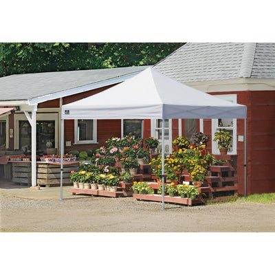 ShelterLogic Alumi-Max Pop-up Canopy with Roller Bag, White, 10 x 10 ft.