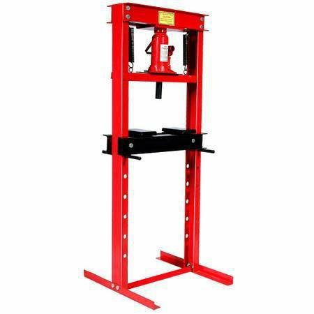 12 Ton Hydraulic Floor Standing Shop Press | Heavy Duty Open Front & Rear Design