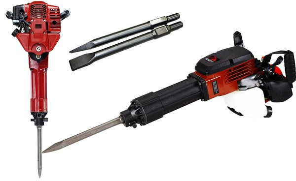 Gas Powered Jack Hammer Demolition 52cc With 2 chisels