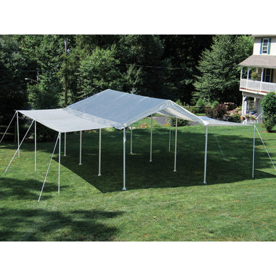 ShelterLogic MaxAP 2-in-1 Canopy with Extension Kit, White, 10 x 20 ft.