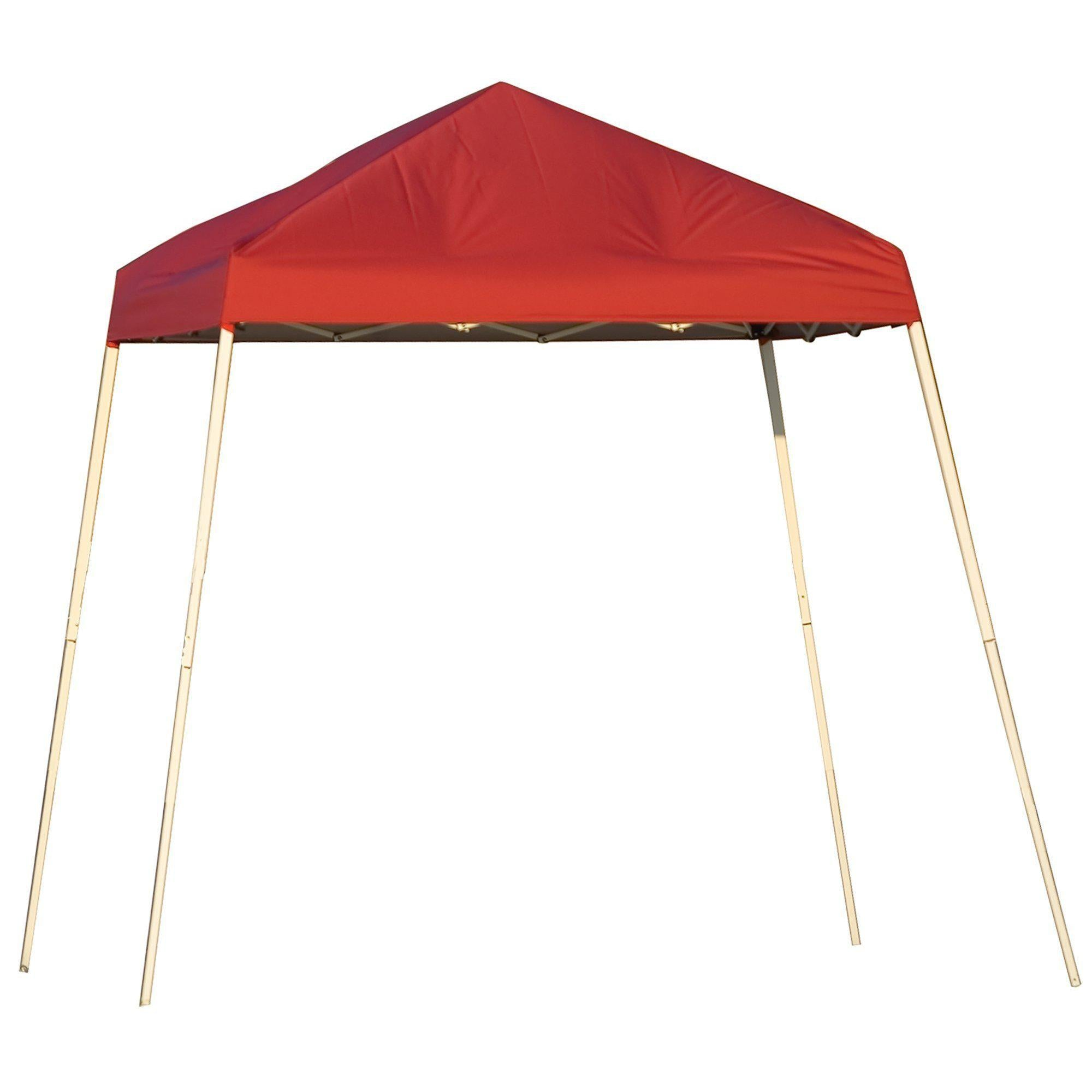 ShelterLogic Slant Leg Pop-Up Canopy with Carry Bag, Red, 8 x 8 ft.