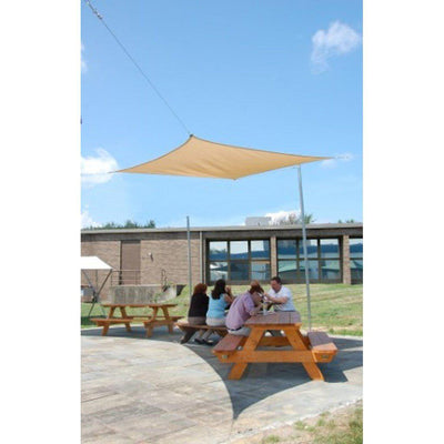 ShelterLogic Square Shade Sail, Sand, 16 x 16 ft.