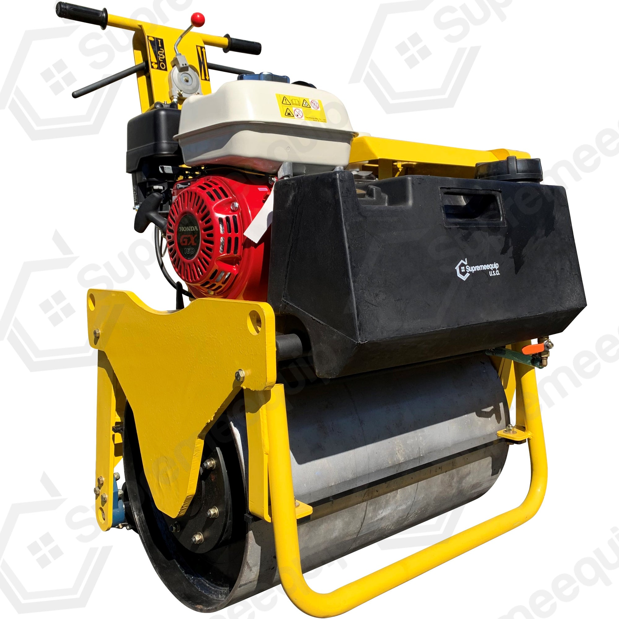 Single Drum Vibratory Roller 600 lbs Honda GX160, for road and asphalt compactor