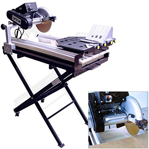 "27"" Cut Tile Saw Brick Paver Saw Wet,With Stand, blade and Laser Guide,10"" blade"