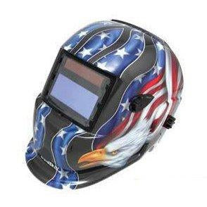 Automatic Welding Helmet Solar Powered Black Eagle Design