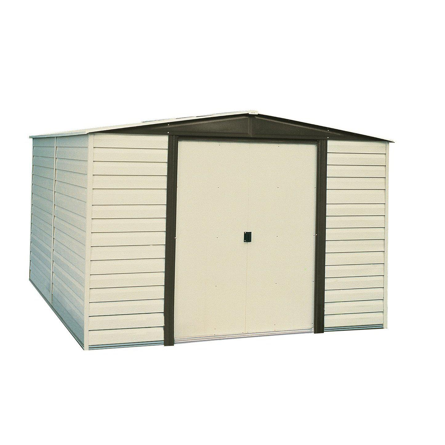 Arrow VD108-A Vinyl Coated Dallas 10-Feet by 8-Feet Steel Storage Shed