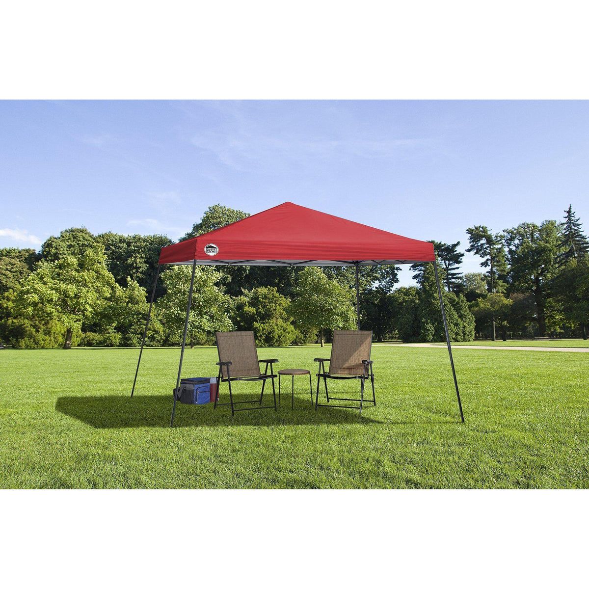 Quik Shade 167505DS Tech Slant Leg Canopy, 12 x 12', Red