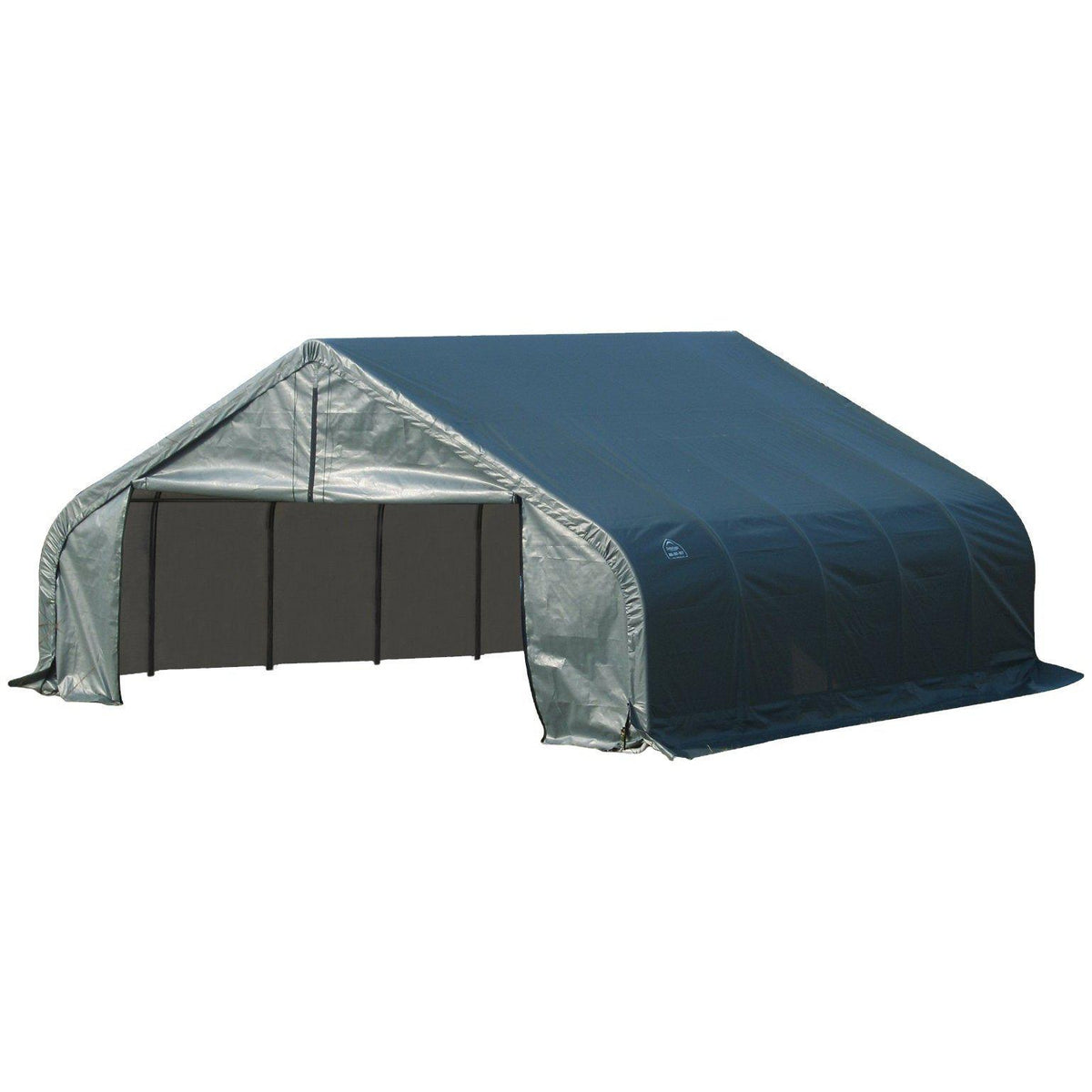 ShelterLogic 80006 Green 18'x28'x10' Peak Style Shelter