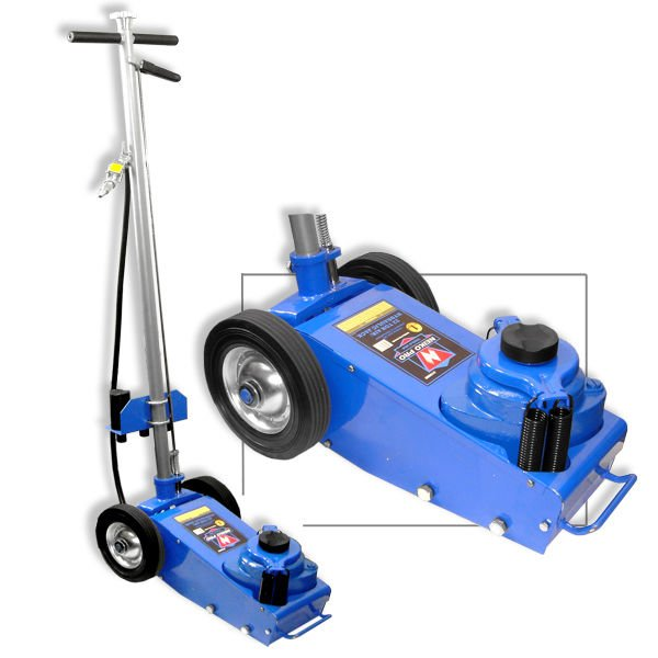 Portable Air Hydraulic Jack | Wheel Operated | 22 Ton Capacity