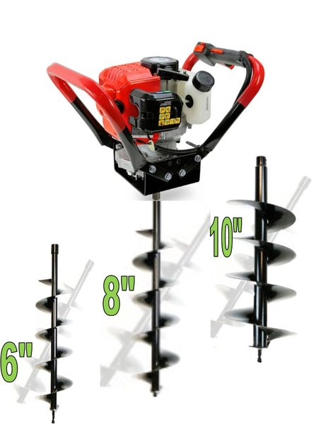 52CC GAS POST HOLE DIGGER With 3 bits 6,8,10