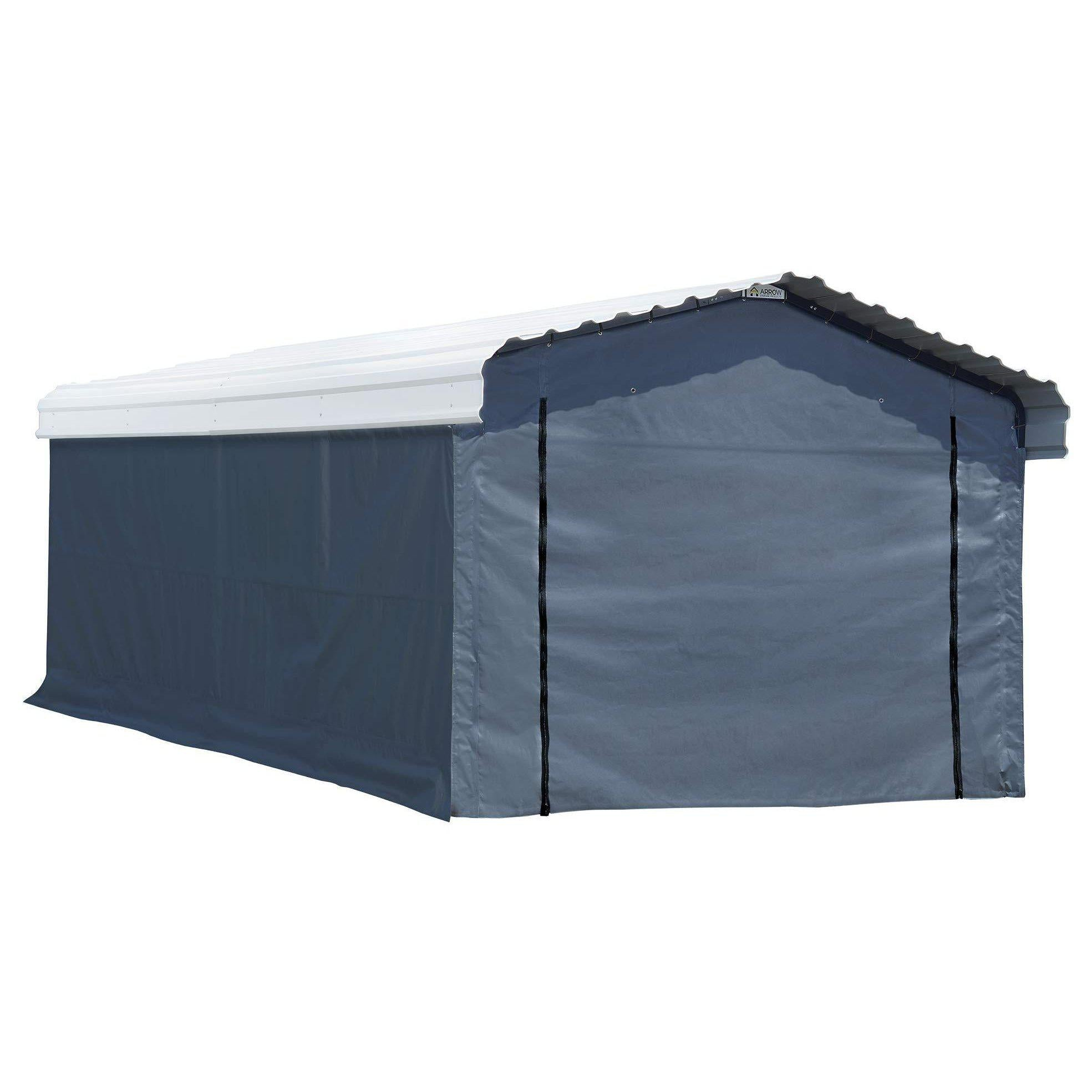 Arrow Fabric Enclosure Kit with UV Treated Cover for 12 x 20-Feet Carports, 12' x 20'