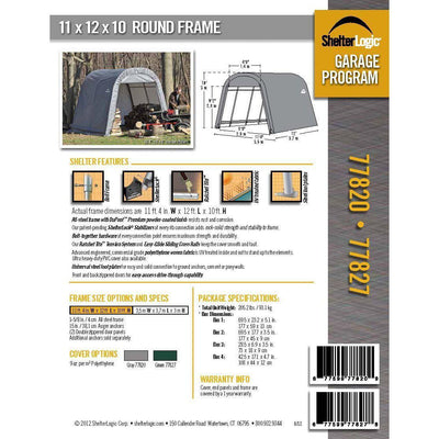 ShelterLogic 77827 Green 10'x12'x10' Round Style Shelter