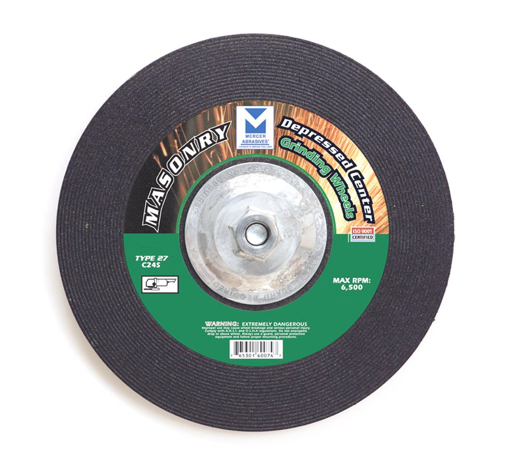 Mercer Abrasives 621030-25 Type 27 Depressed Center Grinding Wheels 4-Inch by 1/4-Inch by 5/8-Inch, 25-Pack