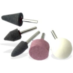 5 Pc Mounted Grinding Stones 1/8""