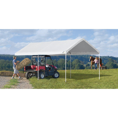 ShelterLogic AccelaFrame Canopy, White, 10 x 20 ft.