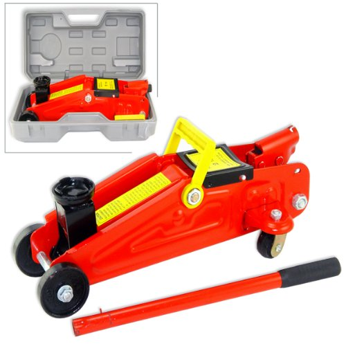 Universal 2 Ton Floor Jack Mini Design - Blow Mold Case