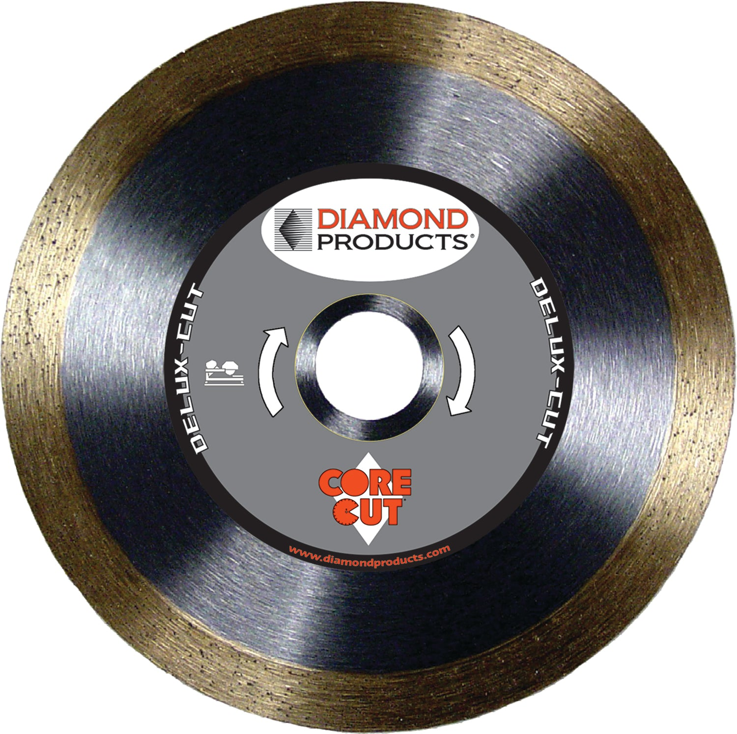 "7"" x .060 x <> 7/8"" Delux-Cut Tile Blade with diamond arbor and 7/8"" (removable) bushing"