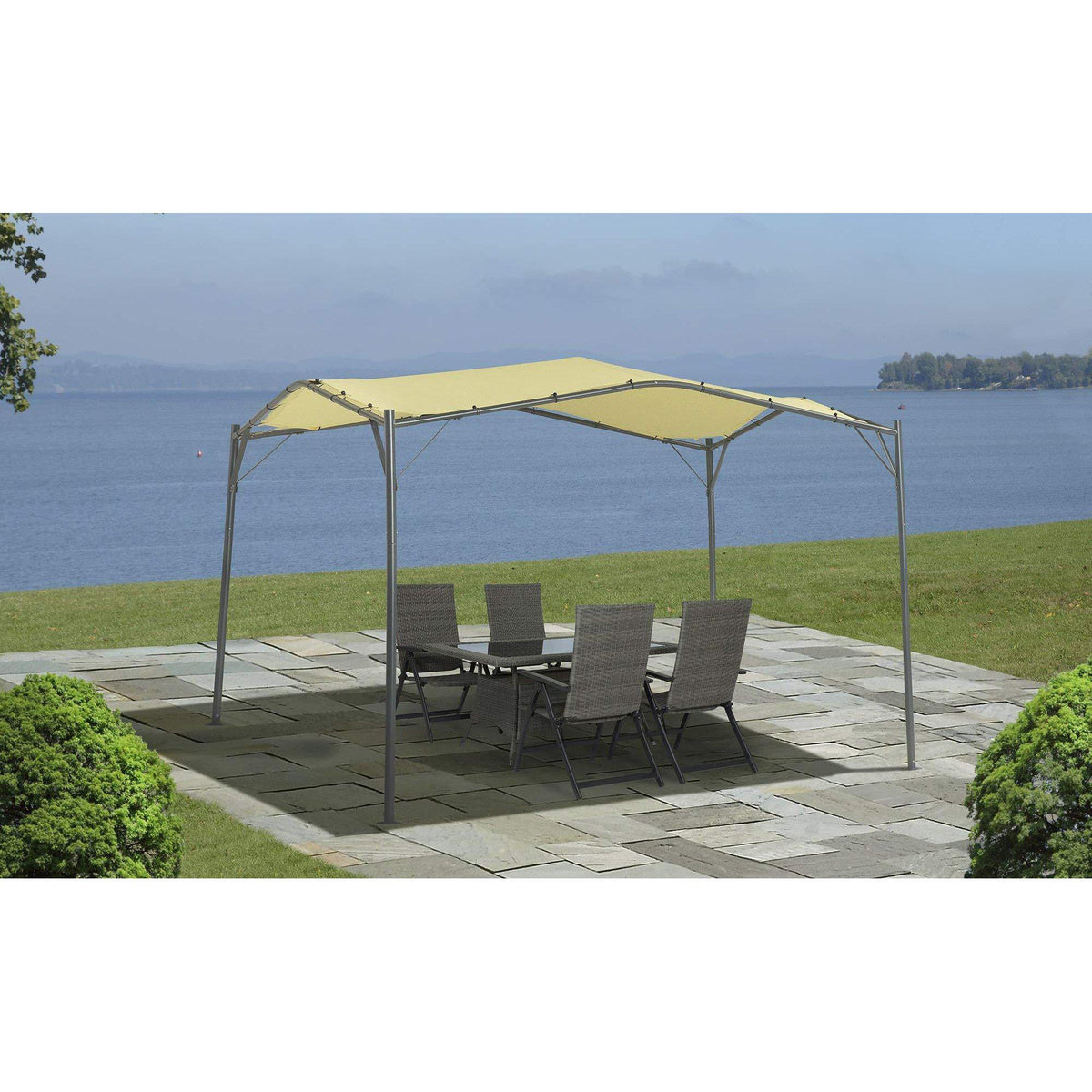 ShelterLogic Gazebo Series Monterey 12 x 12-Foot Easy Assembly Portable UV Protection Outdoor Canopy, Cream
