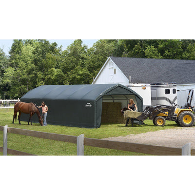 ShelterLogic 84591 Shelter ft Garages, 12 x 30 x 9', green
