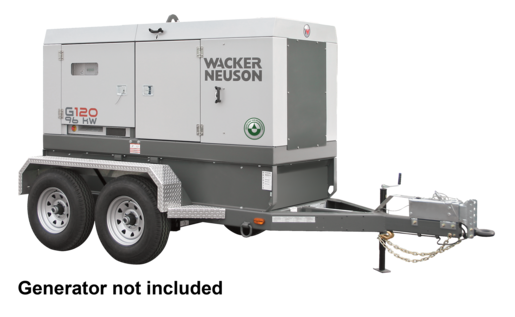 MGT3.1E Mobile Generator Trailer, Electric, Dual Axle, 5200LB Each