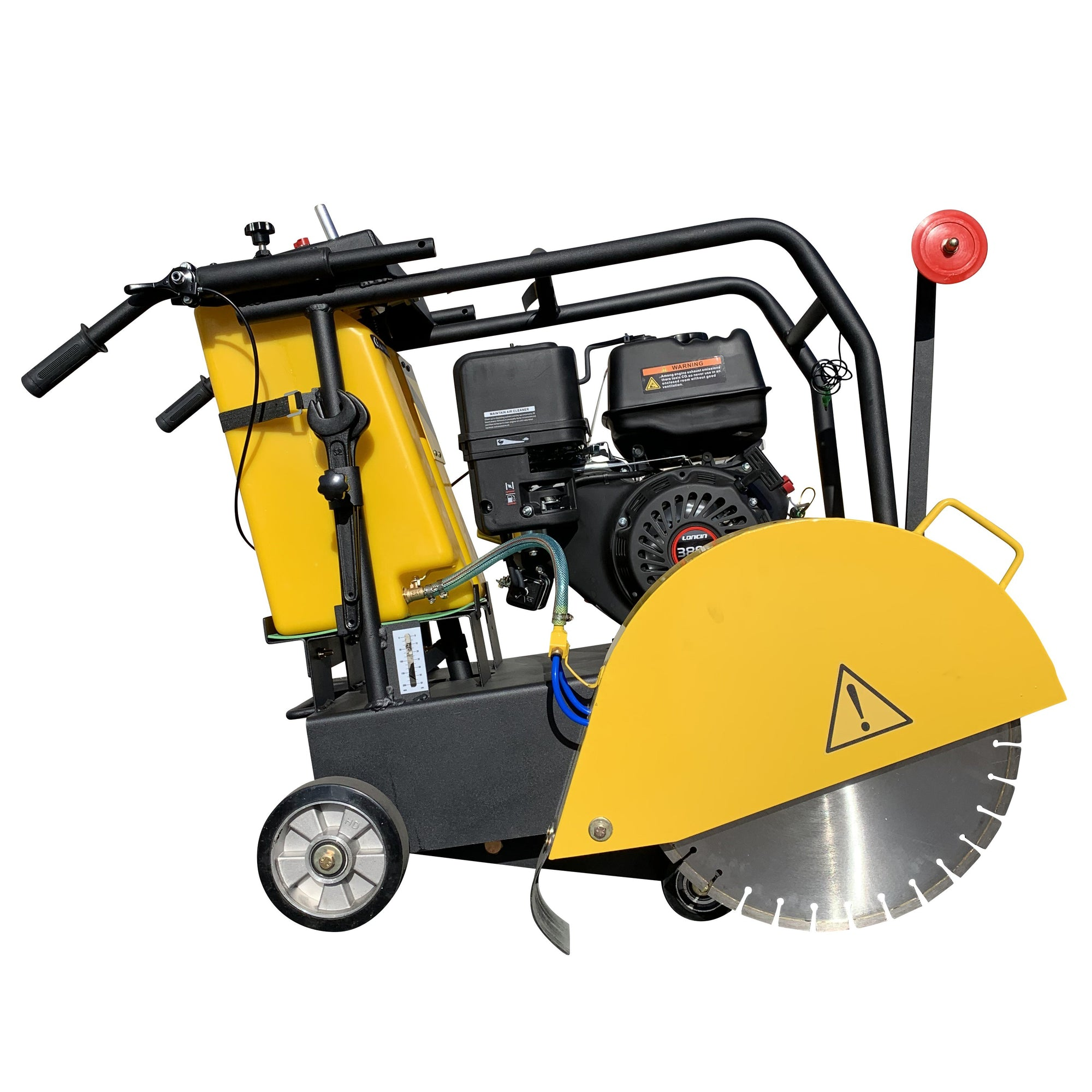 "Commercial Gas Powered 18"" walk-behind concrete saw cement walk behind"