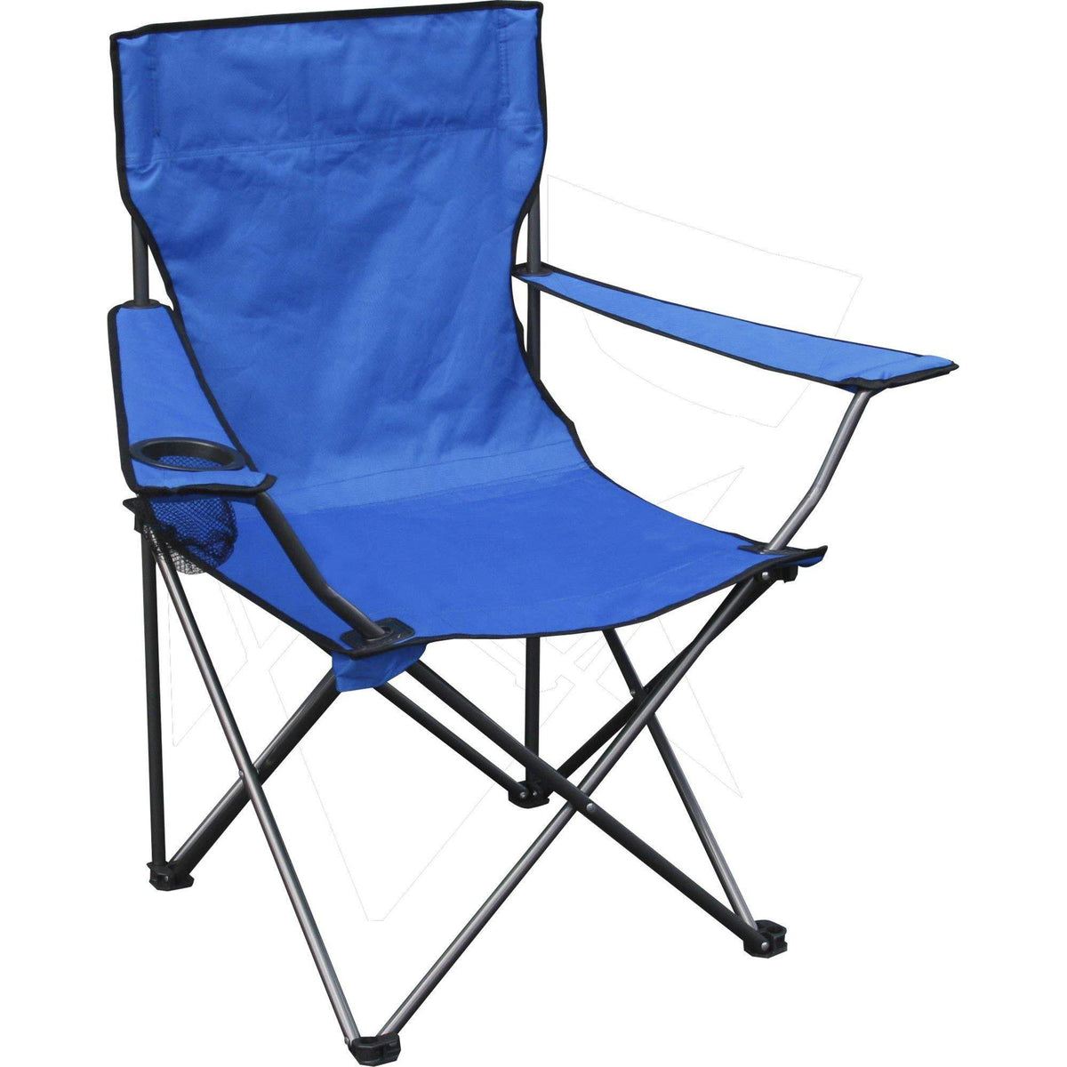 Quik Chair Portable Folding Chair with Arm Rest Cup Holder and Carrying and Storage Bag