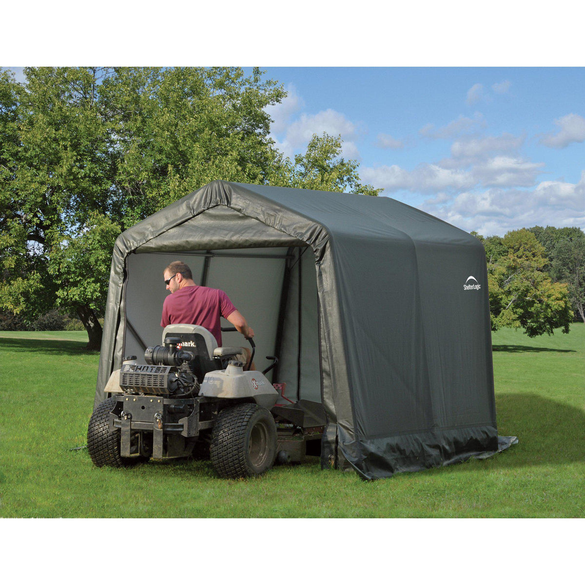 ShelterLogic 8'x12'x8' Peak Style Shelter in Green