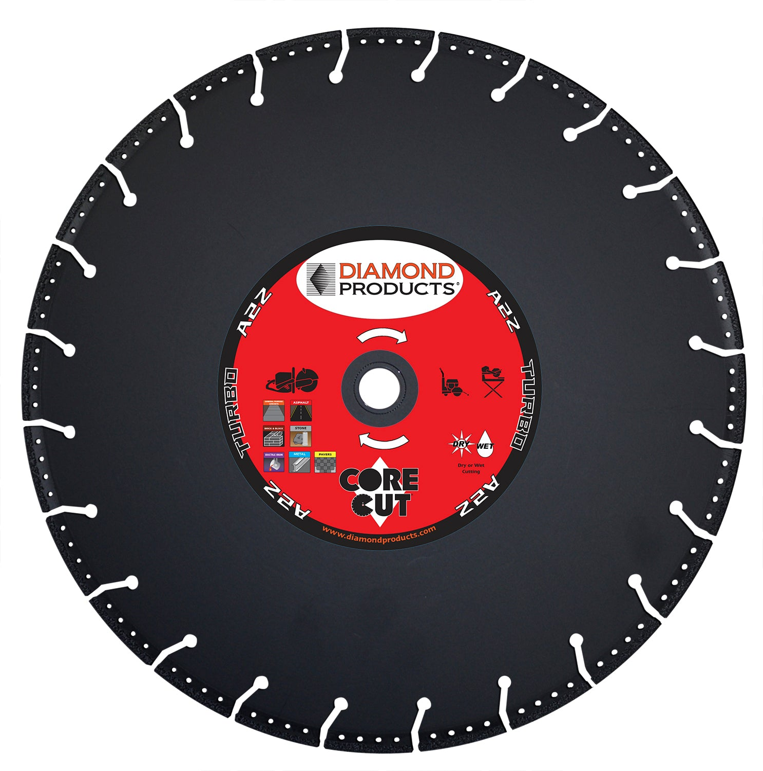 "16"" x .125 x 1"" A2Z Vacuum Bonded High Speed Blade"