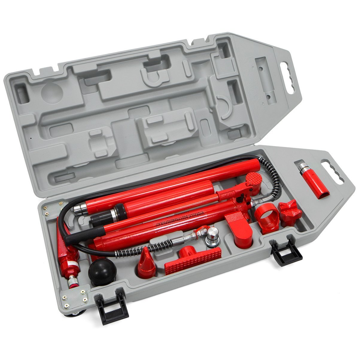 10 Ton Porta Power | Hydraulic Jack Air Pump Lift Ram Repair Tool Kit Auto Body