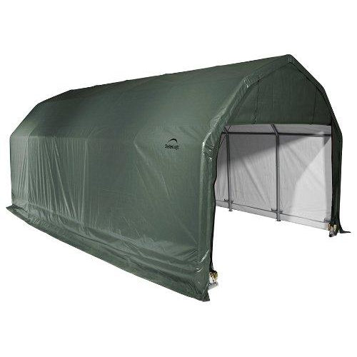 ShelterLogic 97154 Green 12'x24'x9' Barn Shelter