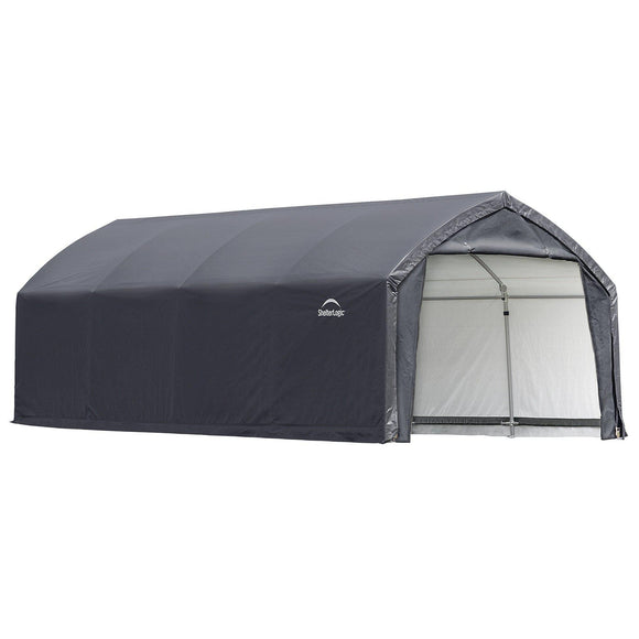 ShelterLogic 84570 Shelter ft Garages, 12 x 20 x 9', Gray