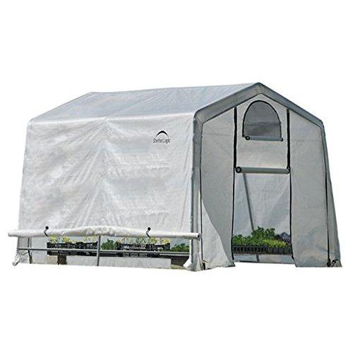 Shelter Logic 10' x 8' GrowIT Box with Peak Style Roof and Easy Flow Roll-Up Side Vents Greenhouse, Feet