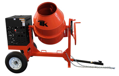 12 cu ft.0 Towable Steel Drum Concrete Cement Mortar Plaster Mixer W/ Honda GX390 Engine