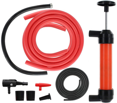 Heavy Duty Multi-Use Siphon Fuel Transfer Pump Kit (for Gas Oil, Liquids and Air)