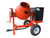 9 cu ft.0 Towable Steel Drum Concrete Cement Mortar Plaster Mixer W/ 1 HP Electric Engine