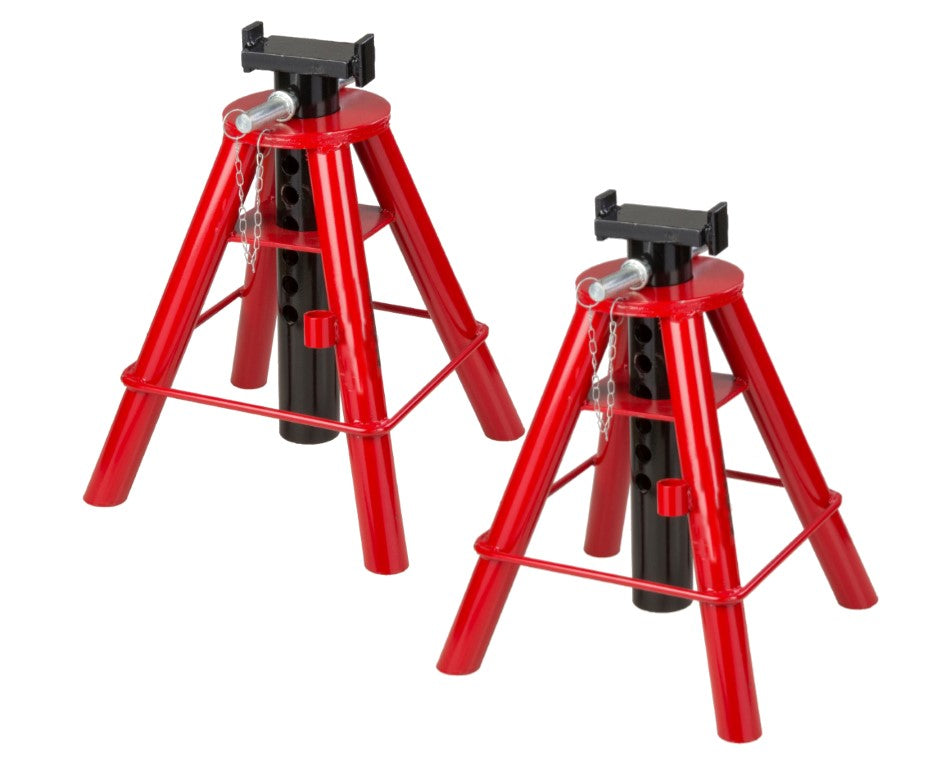 10-Ton Pin Type Jack Stands, Pair from 18-1/2 to 30 2 pack