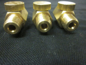 "3 Pack Brass Air Regulators for Air Brushes and Paint Guns 1/4"" Npt Use 3/8"" Hose"