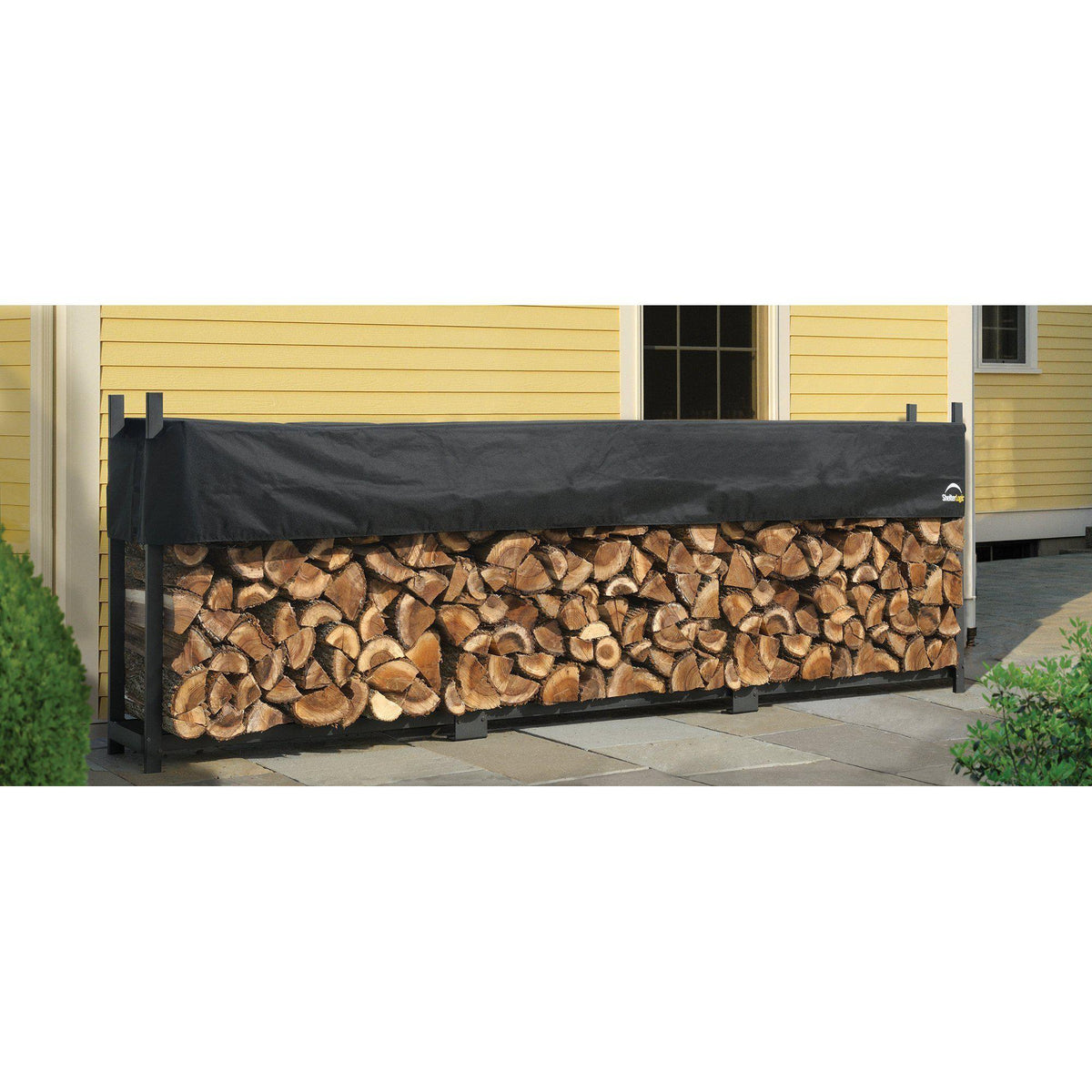 ShelterLogic Ultra Duty Firewood Rack with Cover, 8 ft.