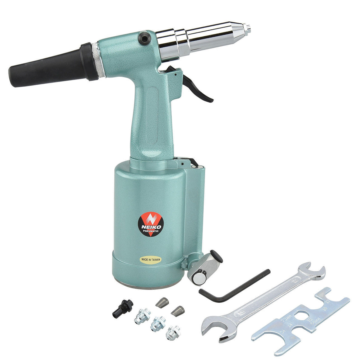 "1/4"" Pneumatic Air Riveter Pop Rivet Gun 3/32"" 1/8"" 5/32"" 3/16"" 1/4"" Nose"