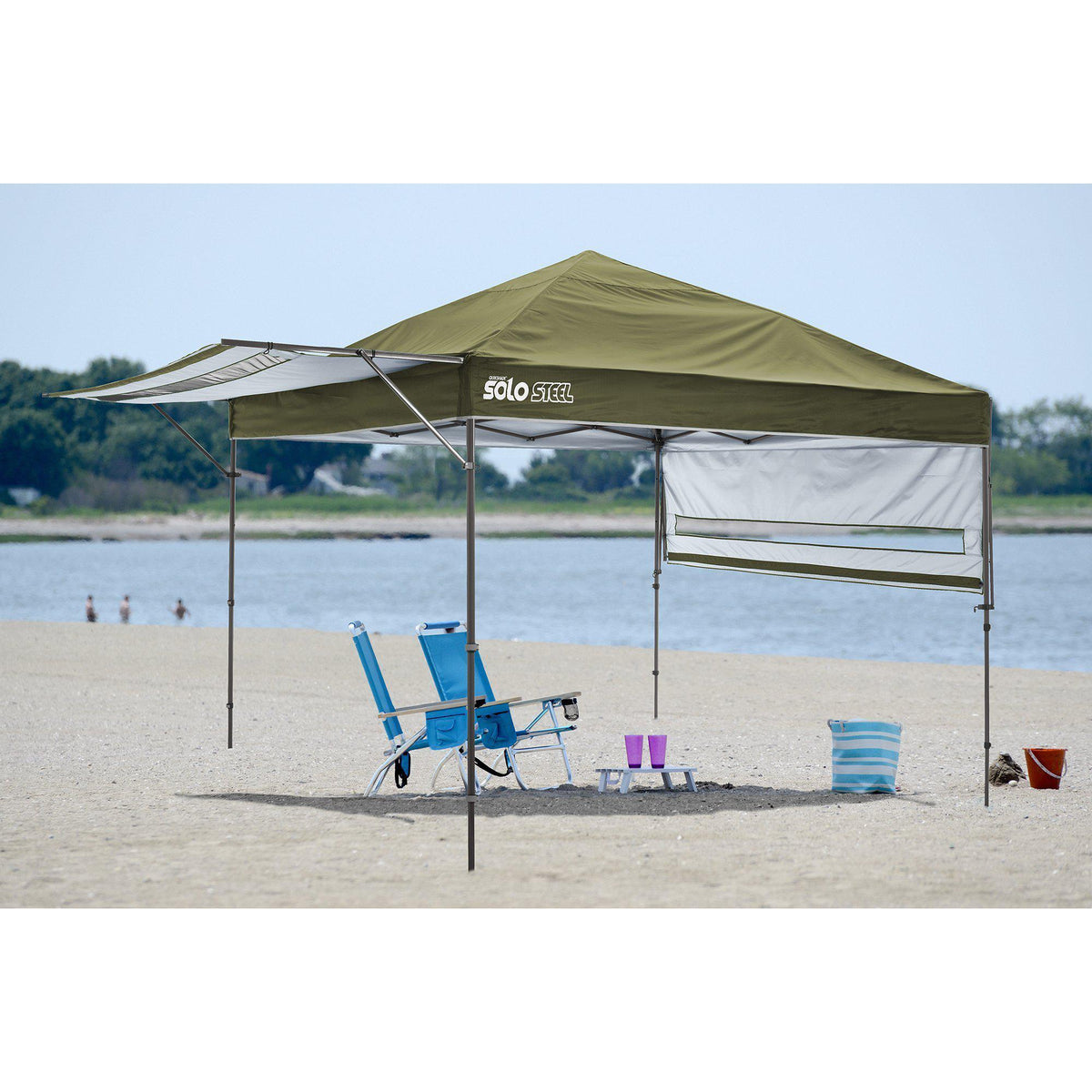 Quik Shade Solo Steel 170 10 x 17 ft. Straight Leg Canopy, Olive