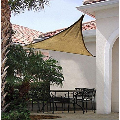 ShelterLogic Triangle Shade Sail, Sand, 12 x 12 x 12 ft.