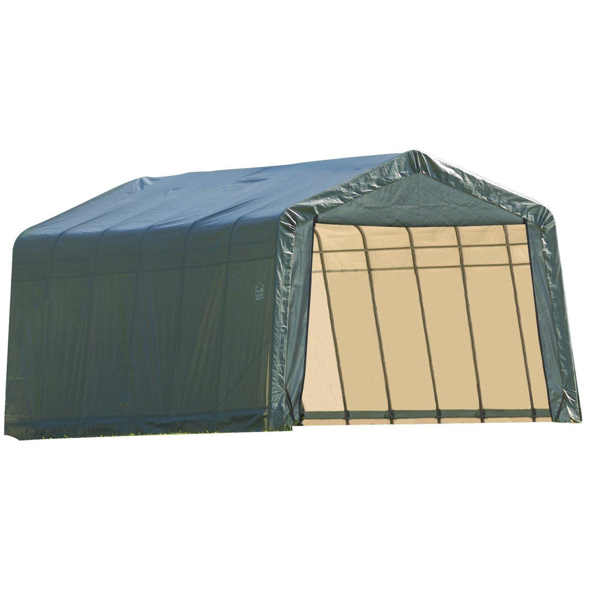 ShelterLogic 76442 Green 12'x28'x8' Peak Style Shelter