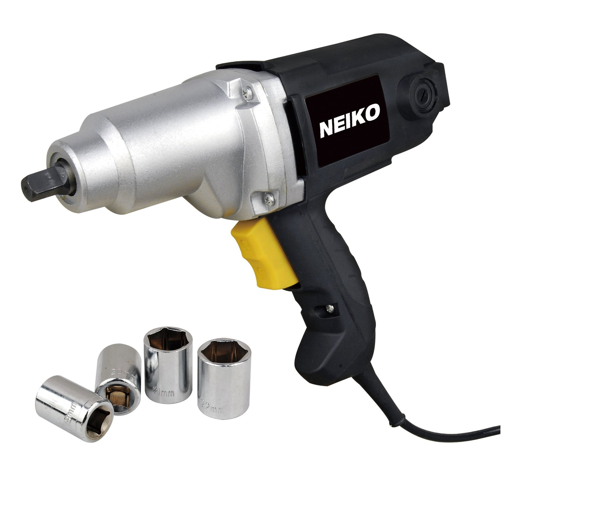 1/2-inch Electric Impact Wrench Kit with 4 Metric Sockets | 9mm-22mm