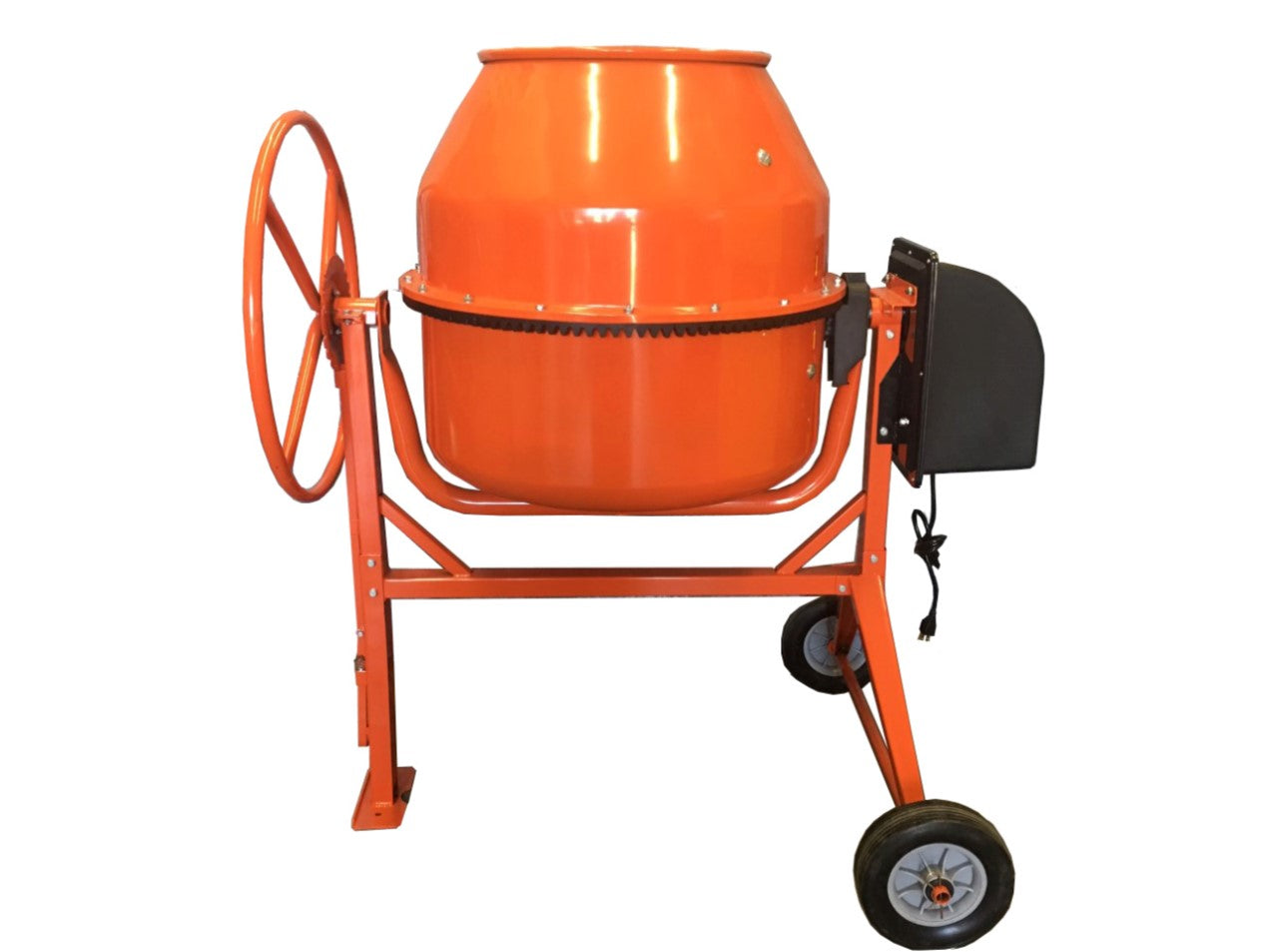 4.5 Cubic Feet Electric Cement Concrete Stucco Mortar Mixer Heavy Duty 2/3 HP