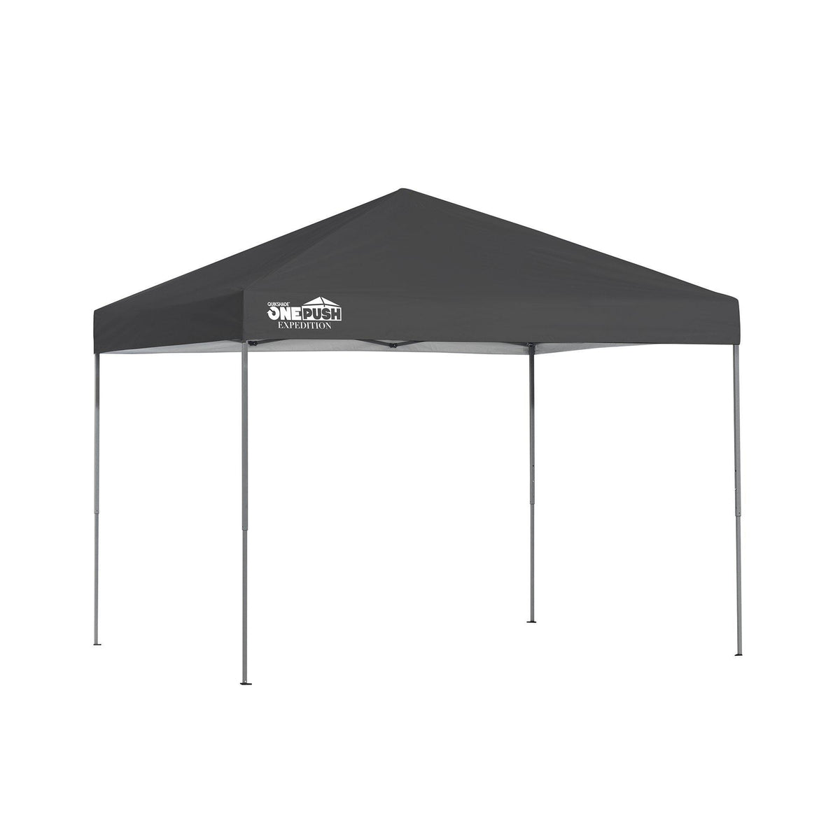 Quik Shade Expedition One Push 8 x 10 ft. Straight Leg Canopy, Charcoal