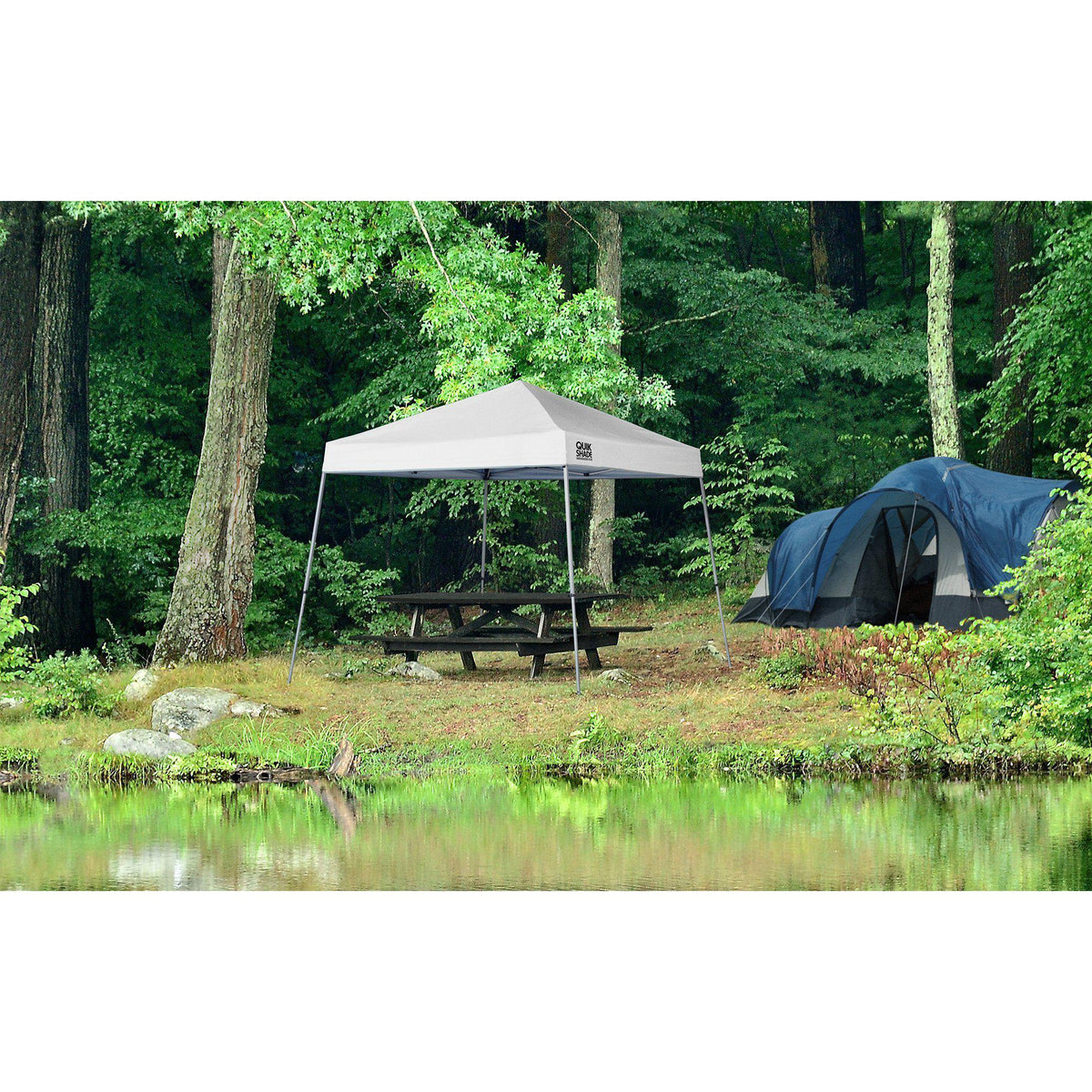 Quik Shade Weekender Elite 10 x 10 ft. Slant Leg Canopy, White