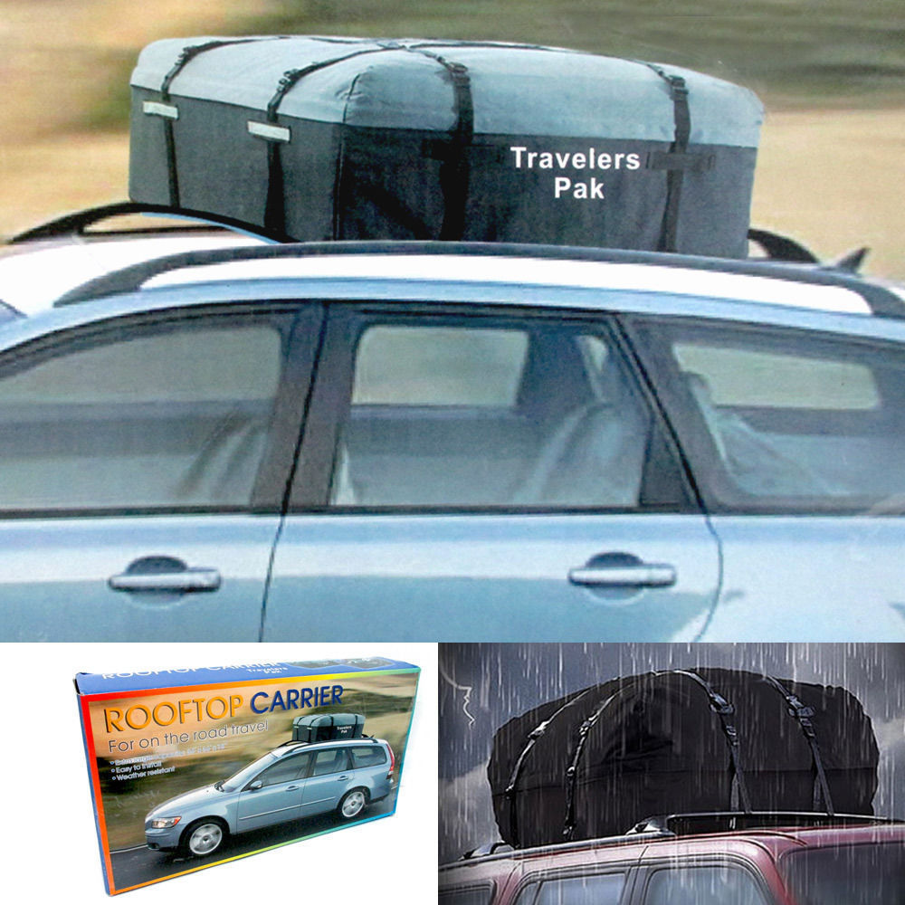 Car Van Suv Roof Top Cargo Rack Carrier Weather Resistant Soft Sided Travel Bag