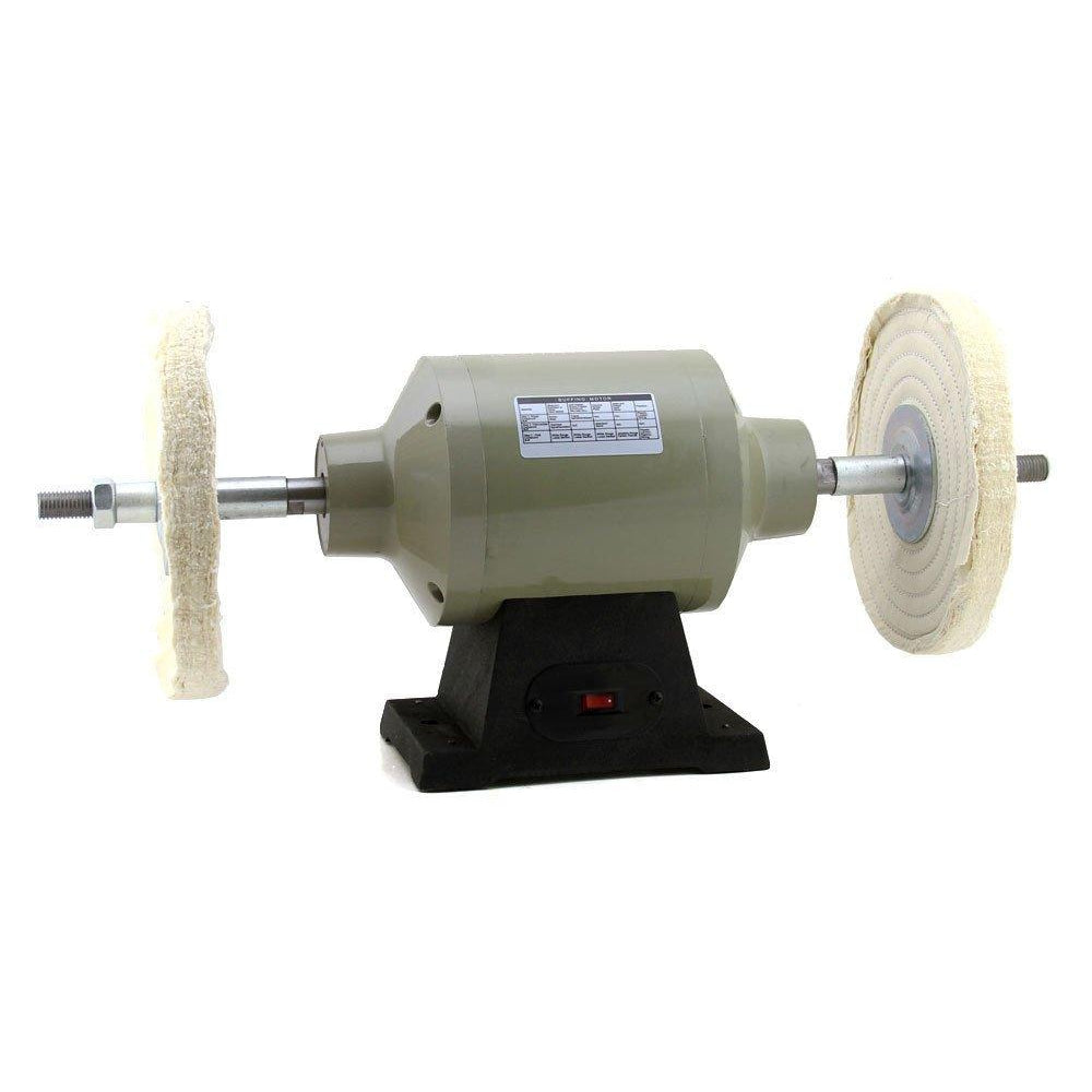 "8"" Inch Electric Power Bench Table Top Buffing Machine Polisher Buffer Tool"