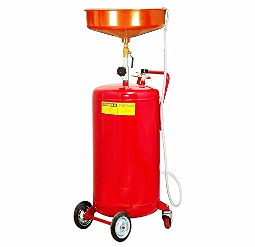 Portable Oil Drain Tank Container 20 Gallon Waste Air Operated Drainer Drainage Lift Auto