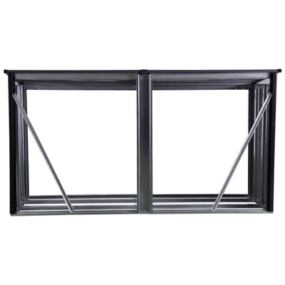 Arrow 90176 Rack 8 x 2 ft. Anthracite Firewood & Hearth Products